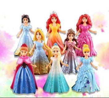 Preorder 8pcs Disney Princesses Change Dress