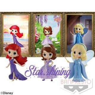 日版迪士尼公主posket Petit模型 Sofia Ariel Pinocchio Blue Fairy 蘇菲亞公主 小魚仙 美人魚 木偶奇遇記小仙女