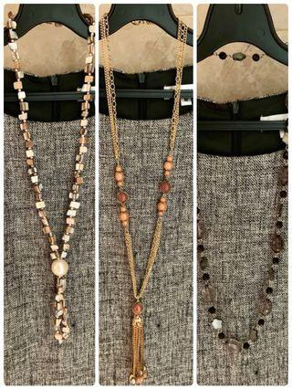 High quality necklace for work (set of 3)