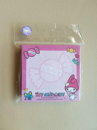 🚚 My Melody Post-It-Note (Non-sticky type)