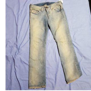 Diesel denim acid wash jeans