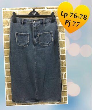 #ramadansale Denim Skirt/Rok Jeans