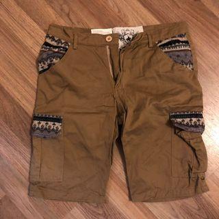 民族花紋短褲