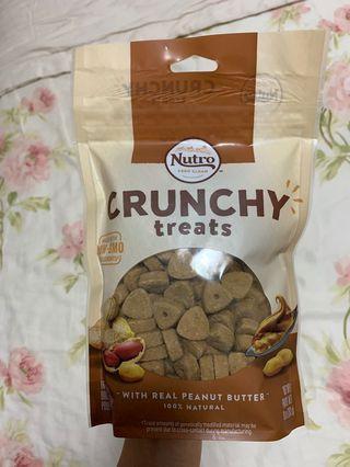 Crunchy peanut butter dog treats 10oz