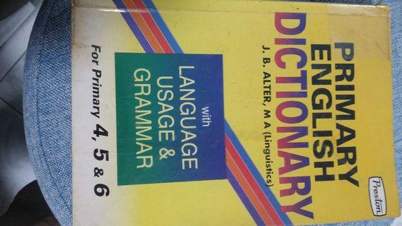 PSLE Primary English Dictionary with language usage and grammar