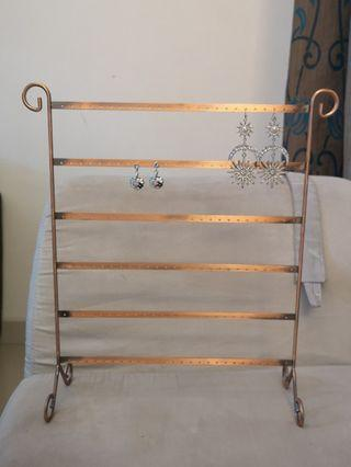 Beautiful bronze 156 holes Earring Rack! free new earrings with purchase