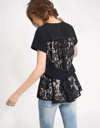 🚚 BN Saturday Club lace top black
