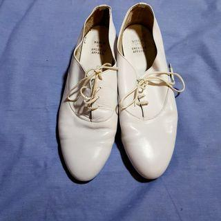 american apparel white leather shoes