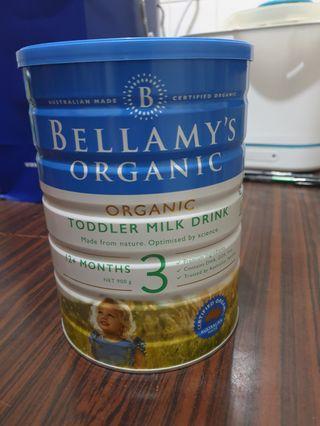 Bellamy Organic Stage 3 Milk (900g)