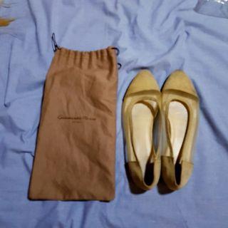 american apparel beige flats w/ Gianvito Rossi shoe bag