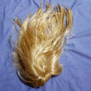 blonde wig with straight bangs