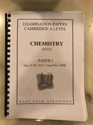 CIE AS Chemistry Paper 1 Past Year Papers