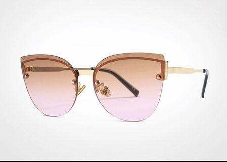 Cat-eye style sunnies with excellent UV protection