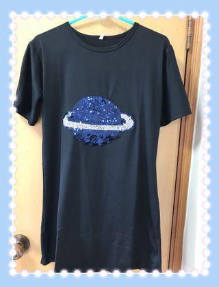 珠片彗星圖案衫