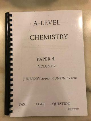 CIE A2 Chemistry Paper 4 Last Year Papers