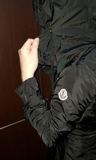Moncler raincoat parka jacket double knot with inflatable hoodie