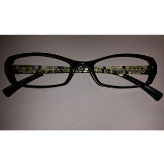 南韓製造超輕黑色花紋臂眼鏡(Z6)