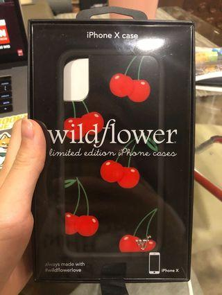Wildflower iPhone X Black Cherries case