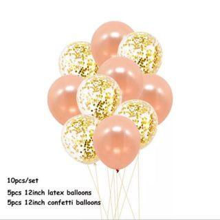 Champagne Pink And Confetti Balloon Set