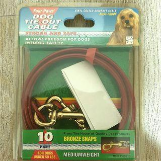 FOUR PAWS  TIE OUT CABLE 10ft for sale URGENT