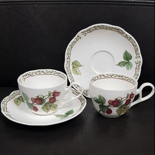 Noritake Royal Orchard Cup and Saucer x2