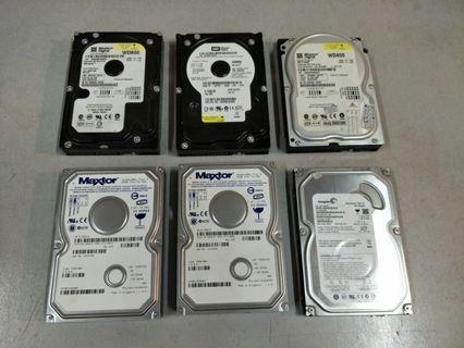 40GB/80GB/160GB/320GB Desktop HDD 3.5' For Sale