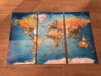 World Map Acyclic Printing