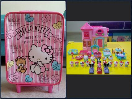 Hello Kitty value pack (luggage + play house)