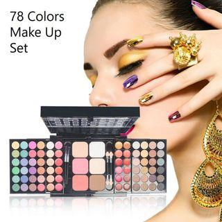 78-Color Eyeshadow Palette Set Box Eyeshadow Lip Gloss Foundation Mineral Powder Makeup Kit Multicolorful Cosmetics with Brushes