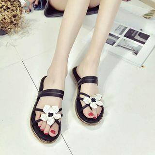 Slippers Women Shoes Slides Flat Sandals Floral Ethnic Style Women Slippers Casual Beach Shoes