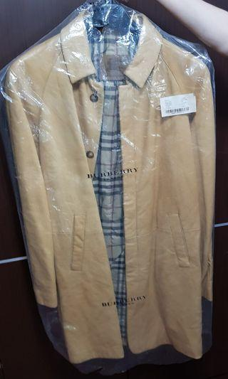Burberry lamb skin leather long coat rarely used 100% authentic