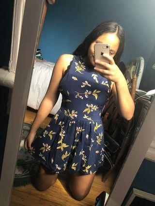 Blue floral Urban Outfitters/Kimchi Blue romper