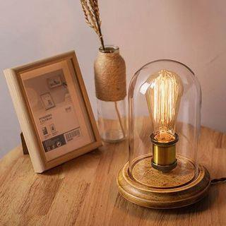 Glass Shade Table Lamp - Decorative, Modern, Exquisite