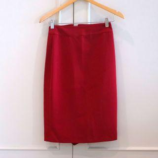 Valentino red skirt