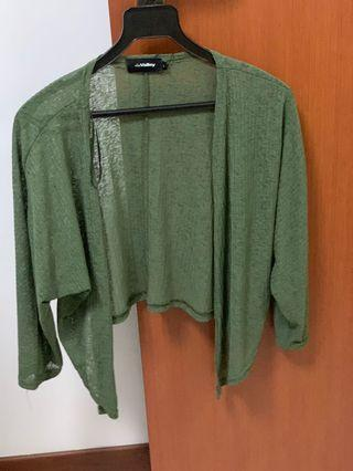 BN Green Crop Cardigan