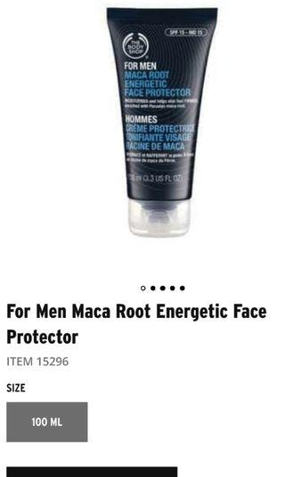 Moisturizer (Maca root energetic face protector for Men)