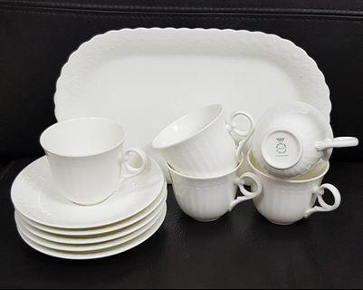 Raya Promotion Narumi Cup and Saucer plus Serving Plate