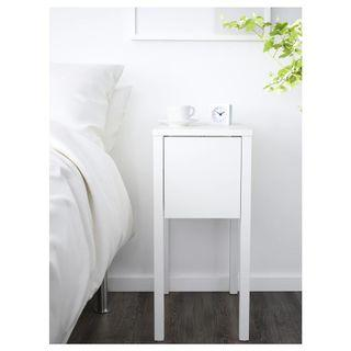 Ikea white Nightstand side table
