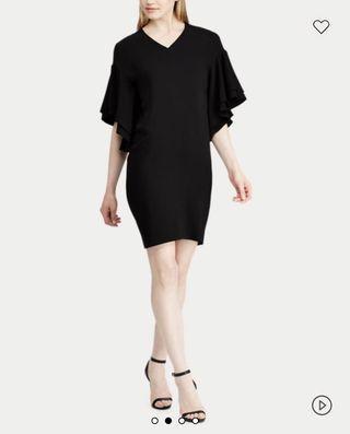 Flutter-sleeved shift dress