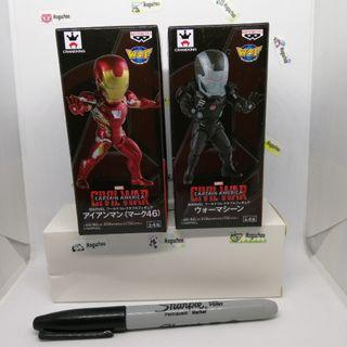 (set of 2) Marvel Comics The Avengers War Machine & Iron Man Banpresto WCF figure (genuine from Japan)
