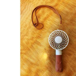 可愛貓紋手柄 手扭- 迷你充電式小風扇  99%新