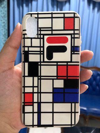 SoftCase Iphone X (Fila Pattern)