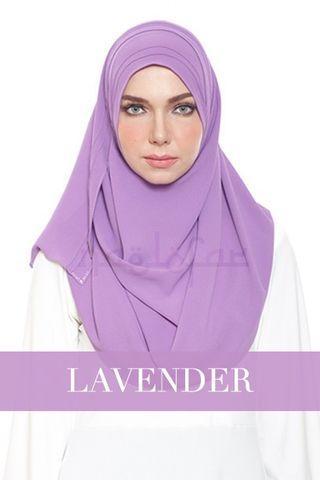 Naelofar Hijab Chic n Basic Loop Lavender