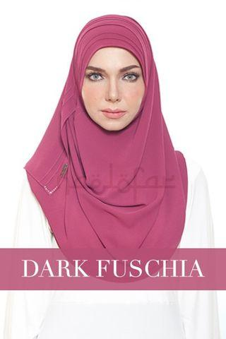 Naelofar Hijab Chic n Basic Loop Dark Fuschia