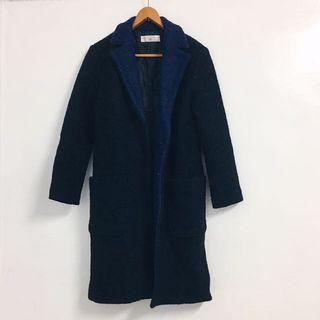 🚚 🔥降👤近全新✨Air Space深色毛呢厚大衣