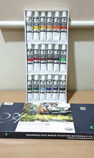 Maries Acrylic Colour 18 x 12ml