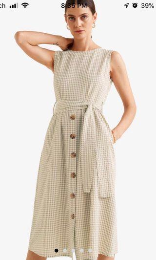 🚚 Bnwt Mango striped textured dress