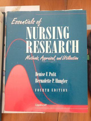 Essentials of Nursing Research: Method, appraisal and utilization (4th ed.), Polit & Hungler