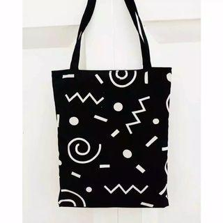 abstract tote bag