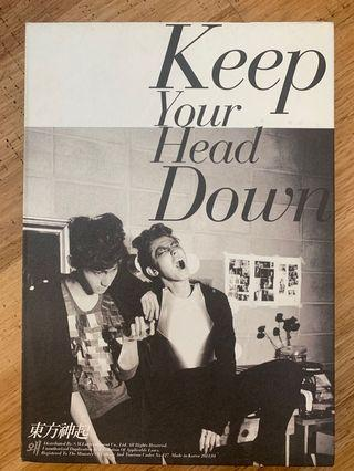 [OFFICIAL ALBUM] TVXQ Keep Your Head Down